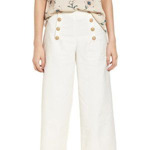Nordstrom's Lydelle Button Front Culotte Pants